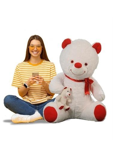 Sole 120cm Yavrulu Peluş Ayı - Sevgiliye Özel Hediyelik Oyuncak Renkli